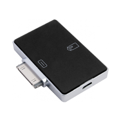 Smart card reader for iOS devices with Apple 30-pin connector