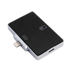 Smart card reader for iOS-devices with a connector Lightning
