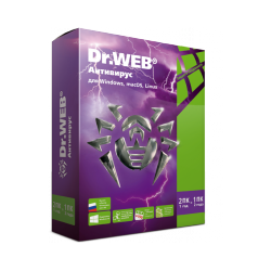 Dr.Web anti-virus. Delivery in a box
